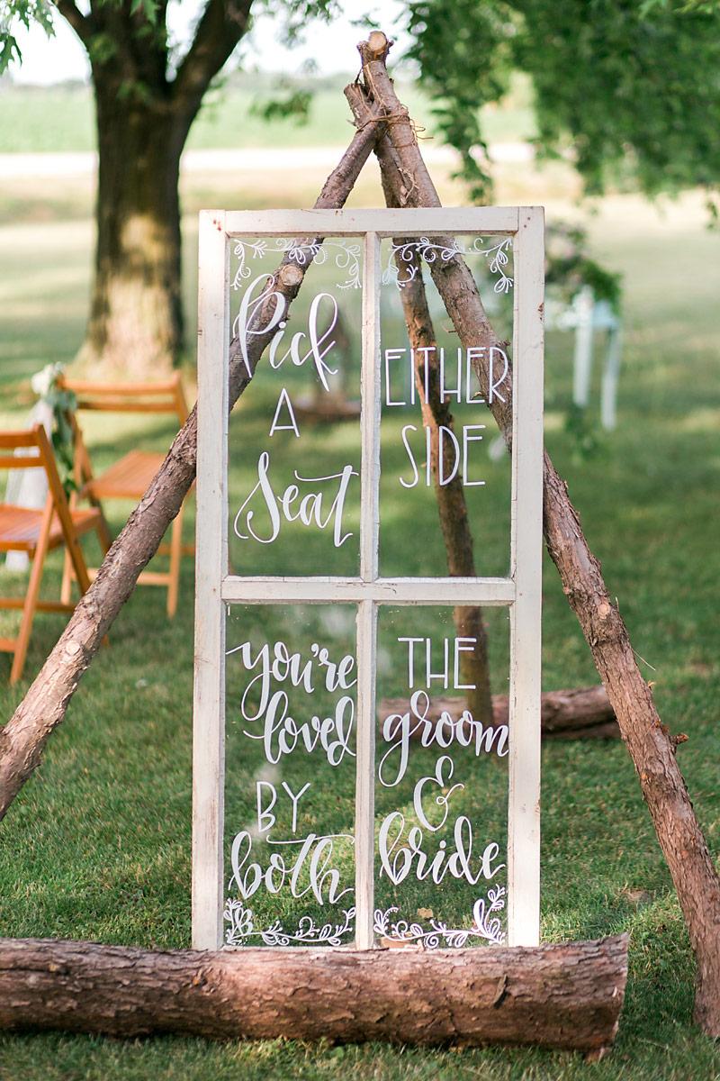 Outdoor Wedding Decor Grass